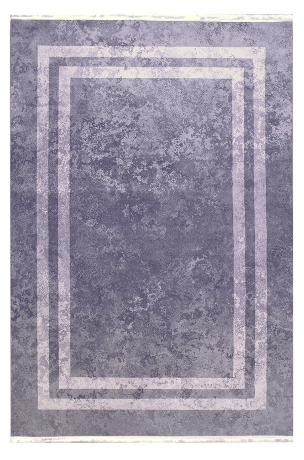 فرش فانتزی کلکسیون ورساچه رنگ طوسی , سفید 6 متری