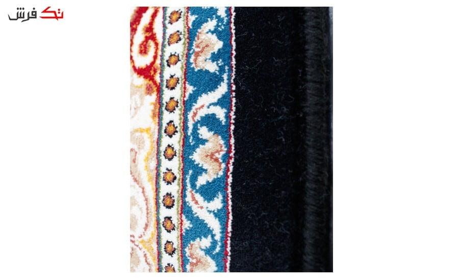 فرش ماشینی طرح هیوا زمینه سرمه ای