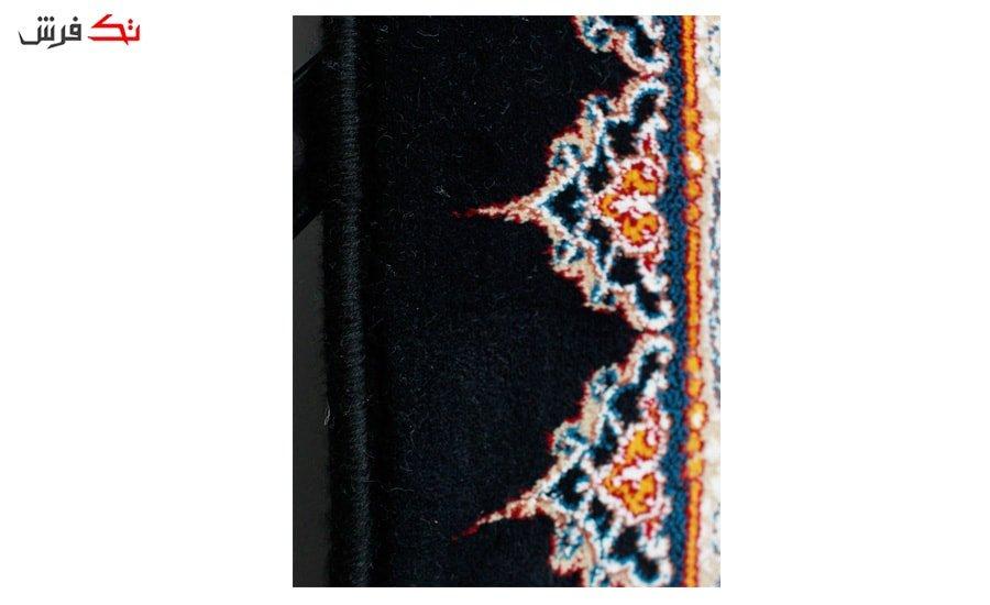 فرش ماشینی طرح افشان پرنسس زمینه سرمه ای