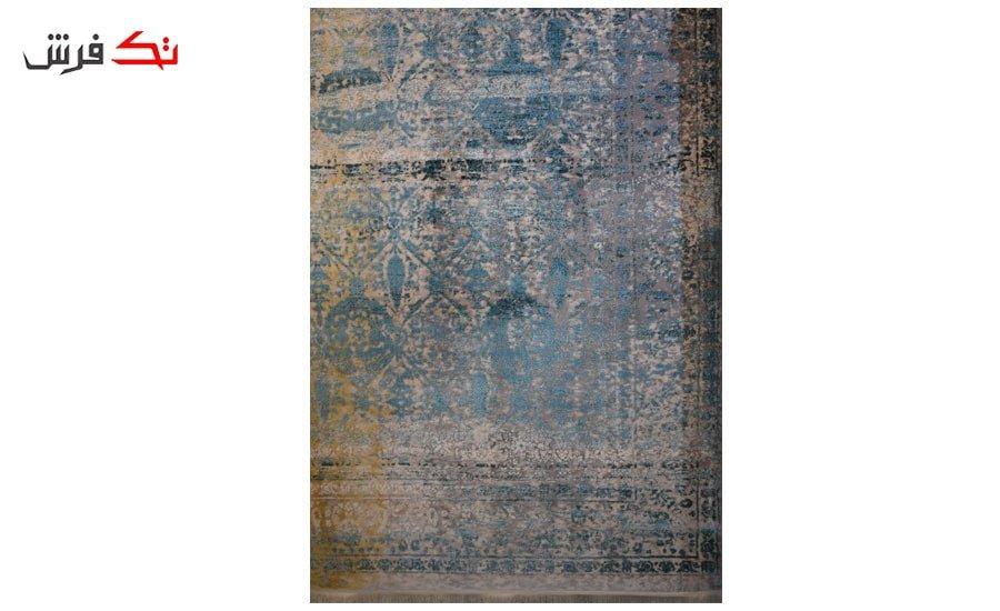فرش ماشینی کلکسیون کهنه نما ( وینتیج ) کد 21-164 برجسته