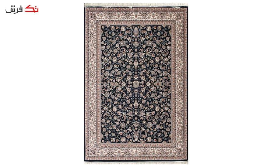 فرش ماشینی طرح افشان گلریز زمینه سرمه ای