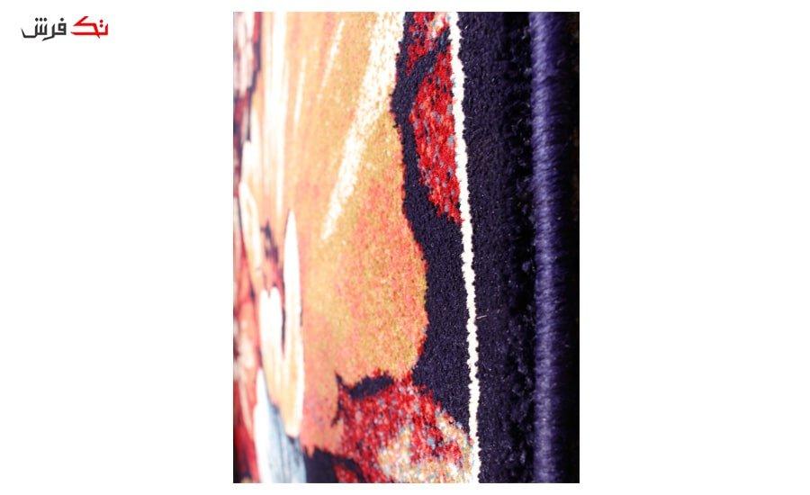 فرش ماشینی گبه کد 78 زمینه سرمه ای
