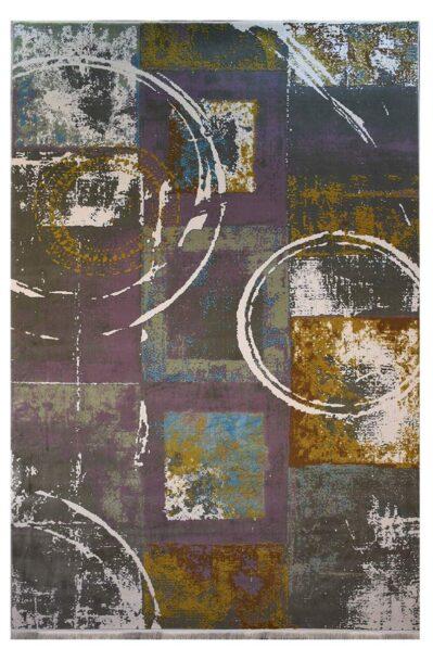 فرش ماشینی کلکسیون کهنه نما ( وینتیج ) کد 12-038-33 برجسته
