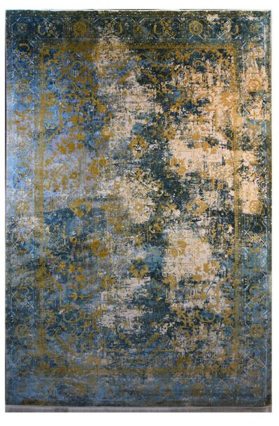 فرش ماشینی کلکسیون کهنه نما ( وینتیج ) کد 21-163 برجسته