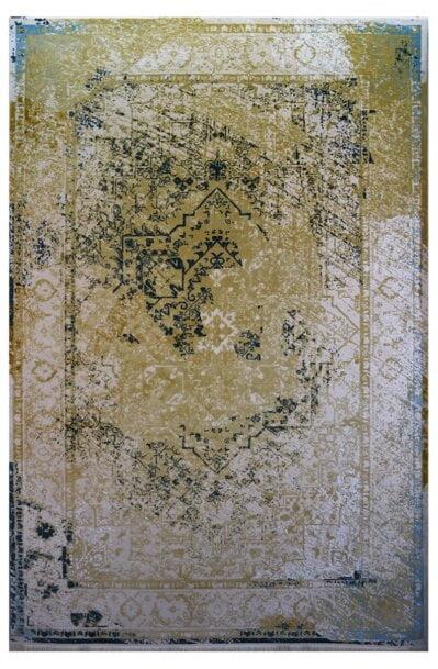 فرش ماشینی کلکسیون کهنه نما ( وینتیج ) کد 22-157 برجسته