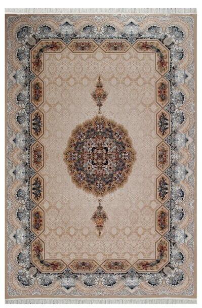 فرش ماشینی طرح هالیدی زمینه بادامی