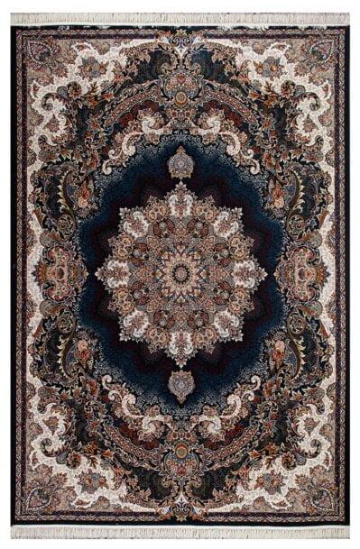فرش ماشینی طرح برکه زمینه سرمه ای