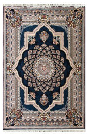 فرش ماشینی طرح دیانا زمینه سرمه ای