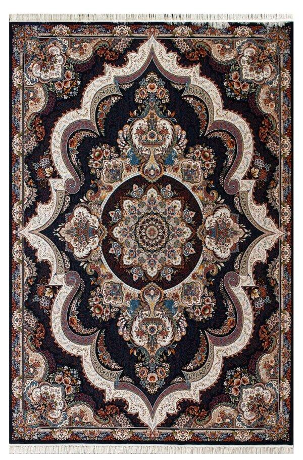 فرش ماشینی طرح شهیاد زمینه سرمه ای