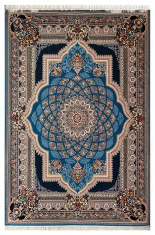 فرش ماشینی طرح دیانا زمینه آبی