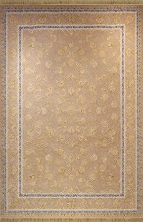 فرش ماشینی شاهکار آریایی طرح 314 نسکافه ای گل برجسته