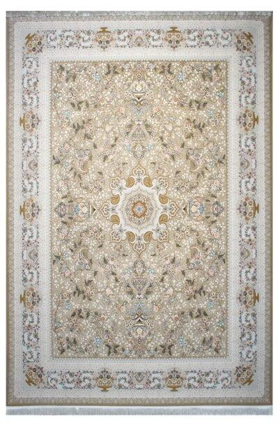 فرش ماشینی سلیمان صباحی طرح پگاه نسکافه ای گل برجسته