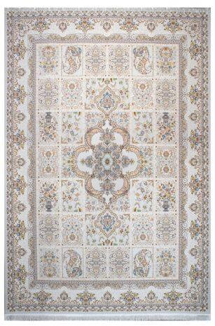 فرش ماشینی سلیمان صباحی طرح سروش صدفی گل برجسته
