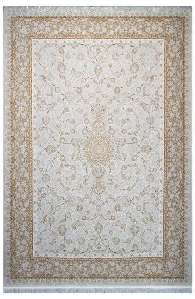 فرش ماشینی سلیمان صباحی طرح افشان صدفی گل برجسته