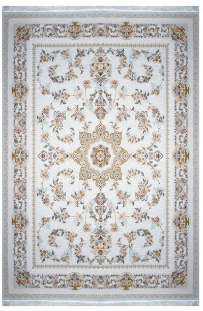 فرش ماشینی سلیمان صباحی طرح پگاه صدفی گل برجسته