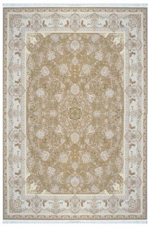 فرش ماشینی سلیمان صباحی 8 بهشت نسکافه ای گل برجسته