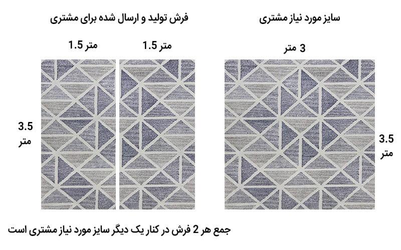 ابعاد فرش ماشینی