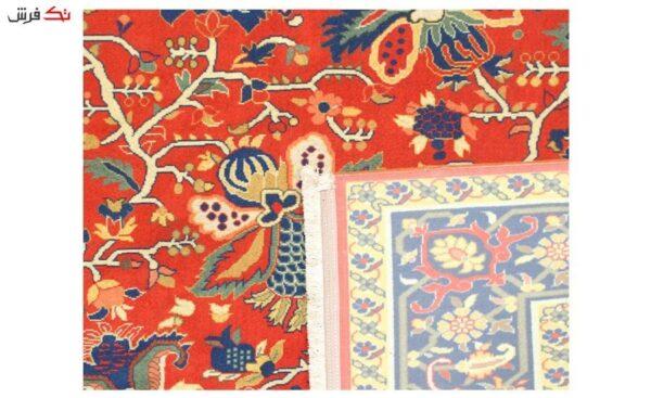 فرش ماشینی طرح دستباف کد 0018 رنگ قرمز 1/5 * 2/25 متری