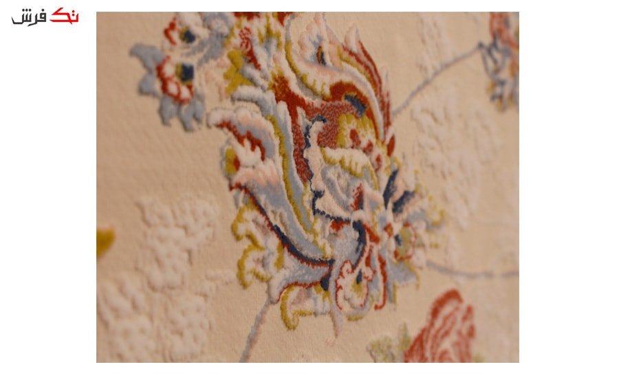 فرش ستاره آسمان کویر کد 2006 زمینه کاراملی گل برجسته