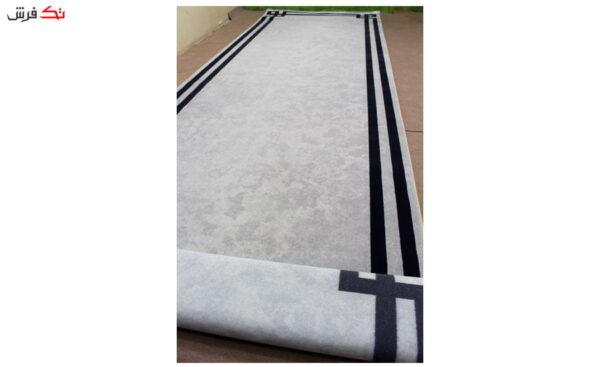 فرش ماشینی کناره کلکسیون ورساچه رنگ کرم 1 * 3 متر