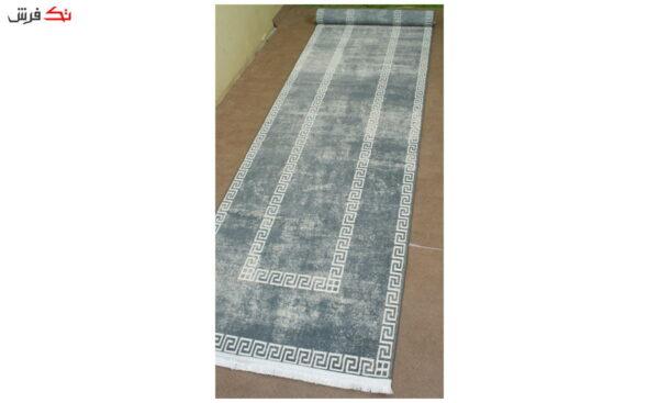 فرش ماشینی کناره کلکسیون ورساچه رنگ خاکستری 0/78 * 3 متری