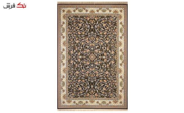 فرش ستاره آسمان کویر کد 1004 زمینه سرمه ای