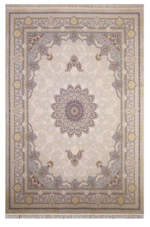 فرش ستاره آسمان کویر کد 2002 زمینه کاراملی گل برجسته