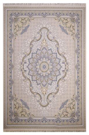 فرش ستاره آسمان کویر کد 2001 زمینه کاراملی گل برجسته