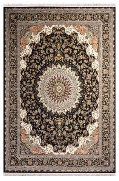 فرش ستاره آسمان کویر کد 1001 زمینه سرمه ای