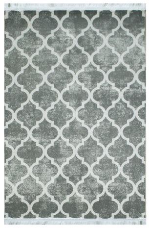 فرش ماشینی کلکسیون هارمونی رنگ طوسی , کرم 1/20 * 1/80 متری