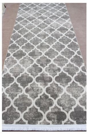 فرش ماشینی کلکسیون هارمونی رنگ طوسی , کرم 0/80 * 2/5 متری