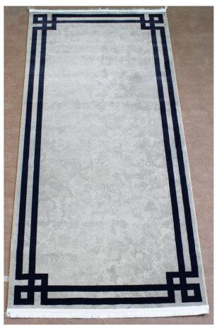 فرش ماشینی کناره کلکسیون ورساچه رنگ کرم 1 * 2 متری