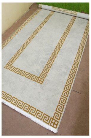 فرش ماشینی کناره کلکسیون ورساچه رنگ کرم 1/5 * 3 متری