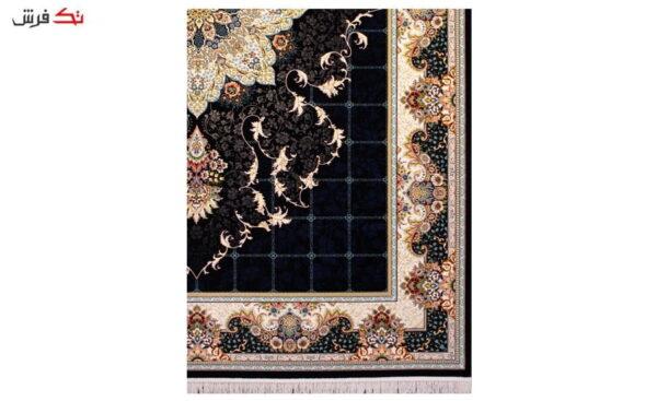 فرش ستاره آسمان کویر کد 1002 زمینه سرمه ای