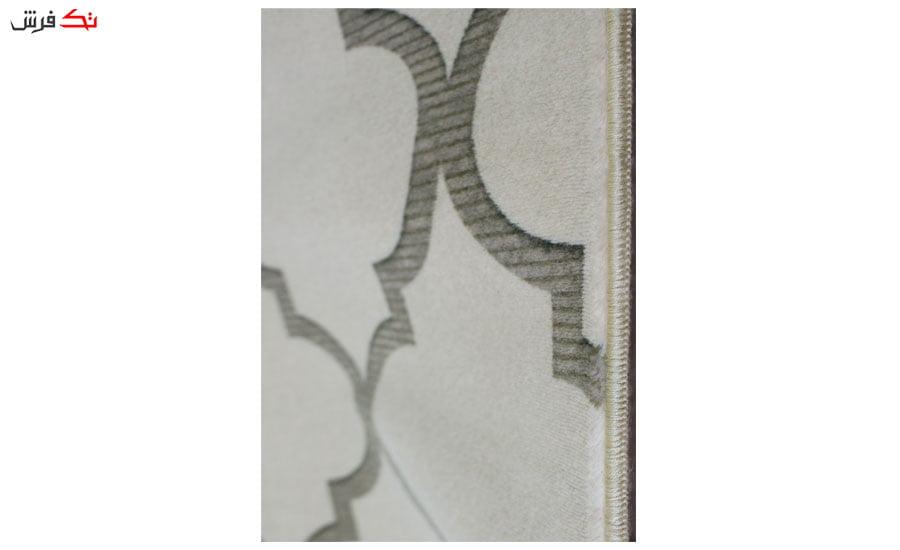 فرش ماشینی بیضی کلکسیون هارمونی رنگ کرم , طوسی 1 * 2 متری