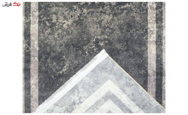 فرش ماشینی کناره کلکسیون ورساچه رنگ طوسی 0/90 * 2/10 متری