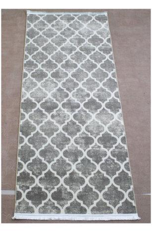 فرش ماشینی کلکسیون هارمونی رنگ طوسی , کرم 0/80 * 2 متری