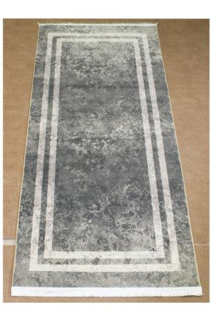 فرش ماشینی کناره کلکسیون ورساچه رنگ طوسی 0/90 * 2 متری
