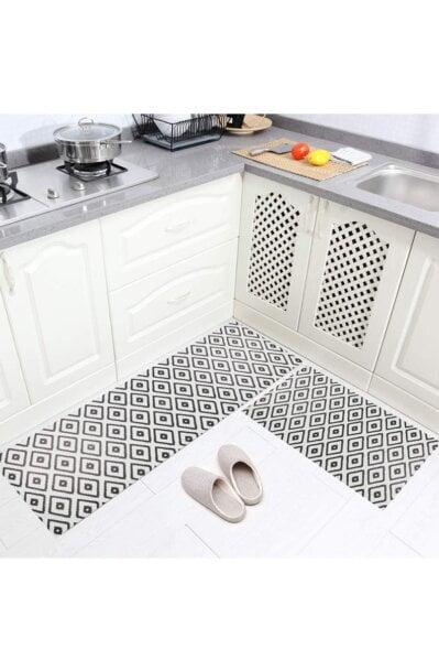 فرش ماشینی آشپزخانه سایز کد K0019 زمینه مشکی