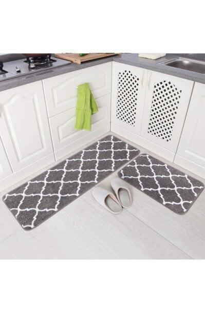 فرش ماشینی آشپزخانه کد K0015 زمینه طوسی