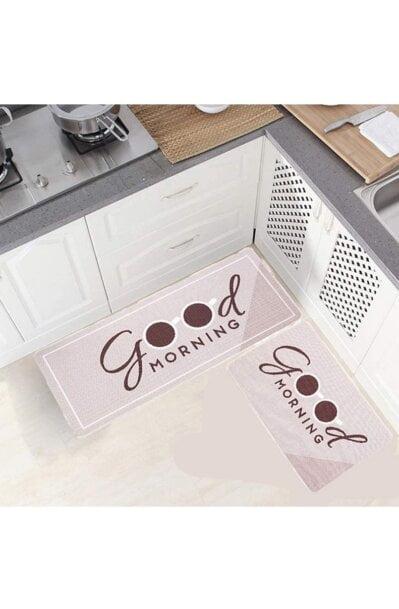 فرش ماشینی آشپزخانه کد K0009 زمینه نسکافه ای
