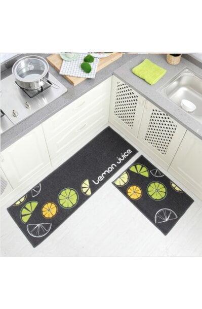 فرش ماشینی آشپزخانه کد K0016 زمینه مشکی