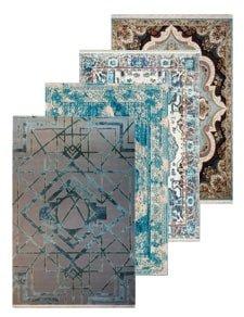 فرش رنگ بندی آبی