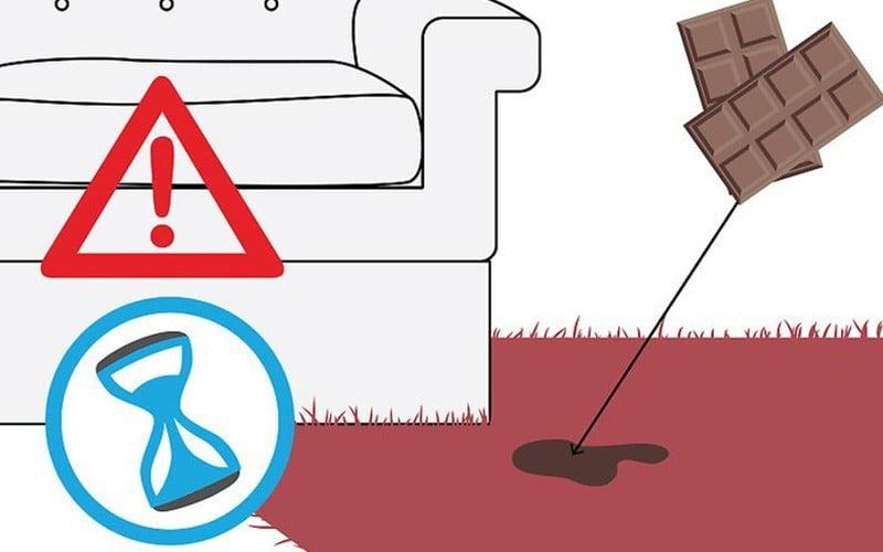 پاک کردن لکه شکلات از روی فرش