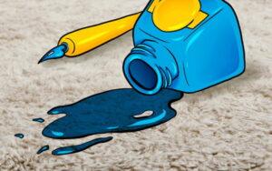چطور میتوان جوهر را از روی فرش پاک کرد