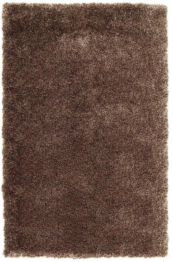 فرش فانتزی شگی ( پرزبلند ) فلوکاتی رنگ قهوه ای