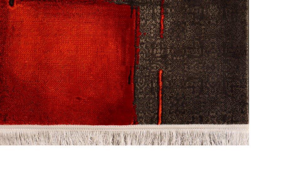 فرش فانتزی کلکسیون کهنه نما کد 00010 زمینه قرمز