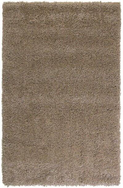 فرش فانتزی شگی ( پرزبلند ) فلوکاتی رنگ نسکافه ای