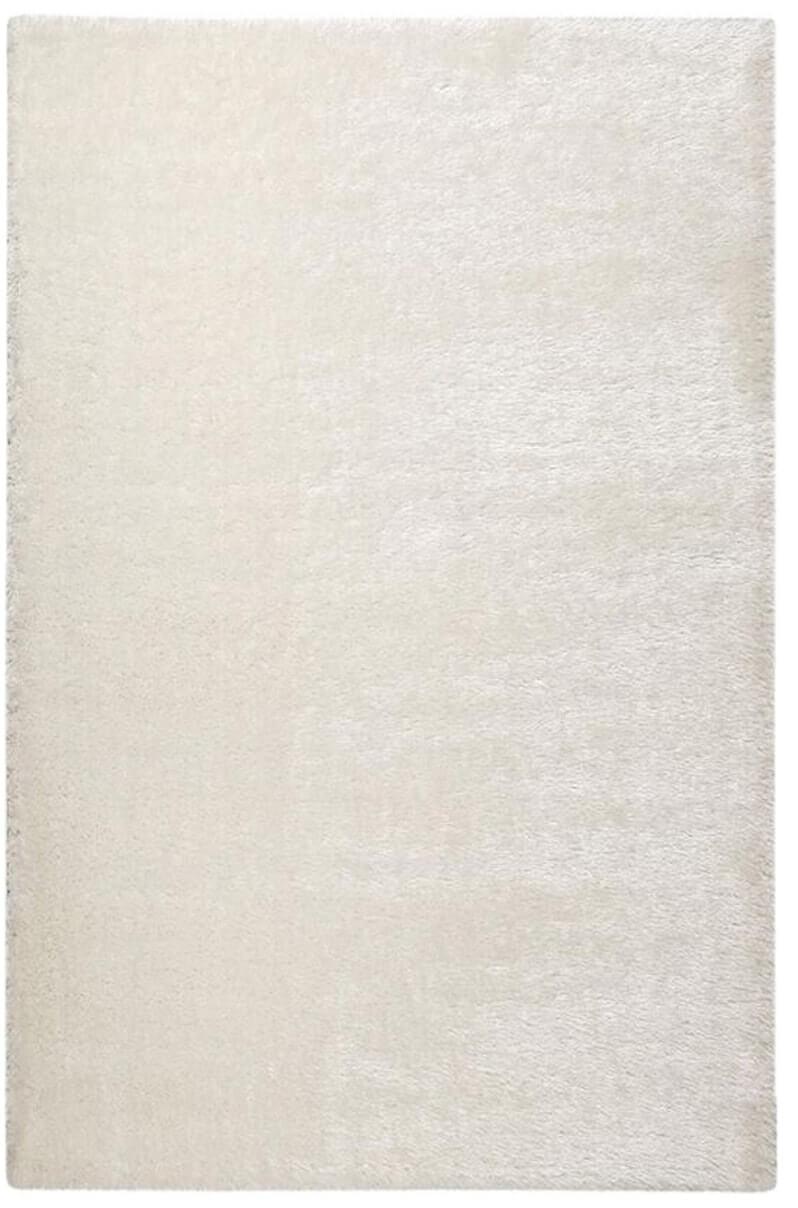 فرش فانتزی شگی ( پرزبلند ) فلوکاتی رنگ سفید