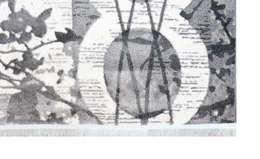 فرش فانتزی کلکسیون کهنه نما کد 613 زمینه طوسی